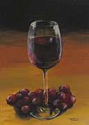 Cocktails Originals - Red Wine and Red Grapes by Torrie Smiley
