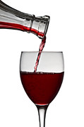 Glass Photo Posters - Red Wine Poster by Gert Lavsen