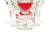 Winetasting Metal Prints - Red wine glass Metal Print by Parinya Kraivuttinun