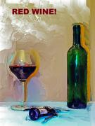 Impressionistic Oil Digital Art - Red Wine by J Jaiam