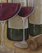 Merlot Prints - Red Wine Print by Maria Boudreaux