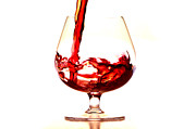Wine Pouring Metal Prints - Red Wine Metal Print by Michal Boubin