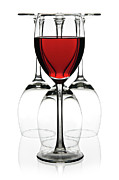 Wine Glasses Photo Prints - Red wine Print by Pics For Merch