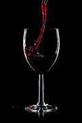 Pouring Wine Photos - Red wine splash by Richard Thomas