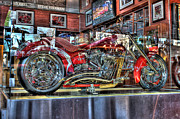 Red Wings Motorcycle Detroit Mi Print by Nicholas  Grunas
