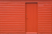 Solid Art - Red Wooden Shed by Iain Sarjeant