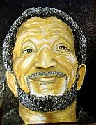 Keenya Woods Mixed Media Originals - Redd Foxx  by Keenya  Woods