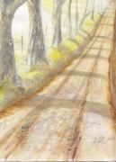 Dirt Road Paintings - Reddick Mill Road by Callie Smith