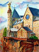 Alsace Framed Prints - Redemption at Mt. St. Odile Framed Print by Gerald Carpenter