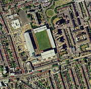 Boleyn Prints - Redeveloping West Hams Stadium Print by Getmapping Plc