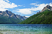 Sawtooth Mountains Metal Prints - Redfish Lake Metal Print by Greg Norrell