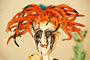 Face Glass Art Prints - Redhead beauty made of glass. Print by Yurix Sardinelly