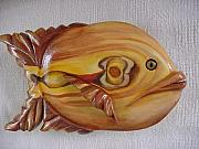 Featured Reliefs - Redhead- Florida series fish-SOLD by Lisa Ruggiero