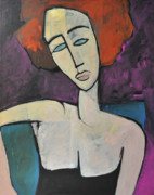 Modigliani Originals - Redhead in Blue Chair by Tim Nyberg