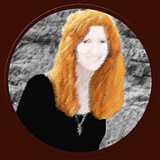Long Necklace Digital Art - Redhead In Morro Bay California by Marian Cates