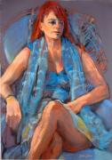 Model Painting Originals - Redhead by Joan  Jones