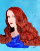 Anke Wheeler Paintings - Redheaded Estelle by Anke Wheeler