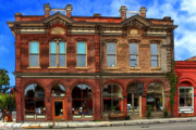 Brick Building Art - Redmens Hall - Jacksonville Oregon by James Eddy