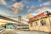 San Francisco Art - Reds and the Bay Bridge by Scott Norris