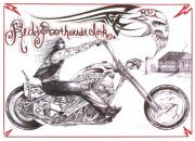 Chopper Drawings - Reds Poor House 2 by Derek Hayes