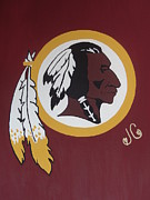 Maryland Wine Paintings - Redskins by Jessica Cruz