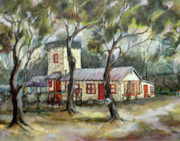 Athletic Paintings - Redwood City Tankhouse by Jean Groberg