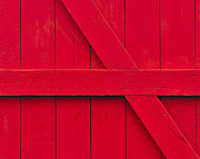 Barn Door Photo Prints - Redwood Print by Tony Beck
