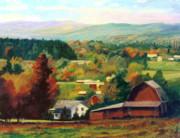 Reeds Farm Ithaca New York Print by Ethel Vrana