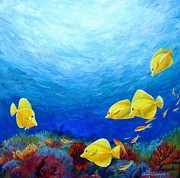 Sarah Grangier - Reef with Yellow Tangs