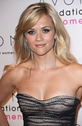 Reese Framed Prints - Reese Witherspoon At Arrivals For 10th Framed Print by Everett