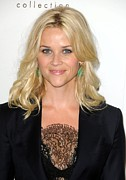 Drop Earrings Metal Prints - Reese Witherspoon At Arrivals For Elles Metal Print by Everett