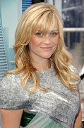 Natural Makeup Photo Posters - Reese Witherspoon Wearing A Rodarte Poster by Everett