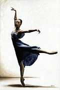 Ballet Art Painting Prints - Refined Grace Print by Richard Young