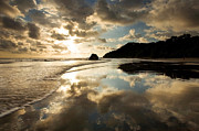 Matt Tilghman Metal Prints - Reflected Costa Rica Sunset Metal Print by Matt Tilghman