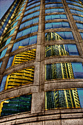 Architecture Photography - Reflected Skyscrapers II by David Patterson