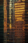 Glass Photo Originals - Reflecting Chicago by Steve Gadomski