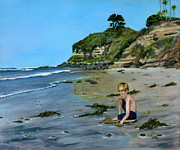 Oceanside Painting Prints - Reflecting Print by Lisa Reinhardt
