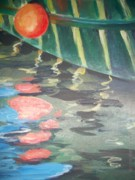 Bouys Paintings - Reflecting by Mickey Bissell