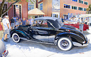 Transportation Paintings - Reflecting on a Mercedes by Mike Hill