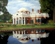 Thomas Jefferson Painting Prints - Reflecting on Jefferson Print by J Luis Lozano