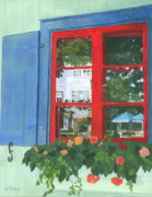 Building Painting Originals - Reflecting Panes by Lynne Reichhart
