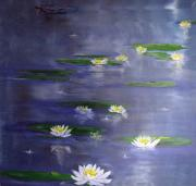 Lilly Pond Paintings - Reflecting Pond by Gary Smith