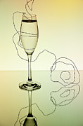 Sparkling Wine Photo Posters - Reflection 01 Poster by Nailia Schwarz