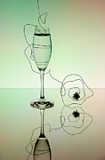 Wine Reflection Art Photos - Reflection 02 by Nailia Schwarz