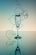 Champagne Metal Prints - Reflection 03 Metal Print by Nailia Schwarz