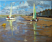 Beach Huts Posters - Reflection Poster by Andrew Macara