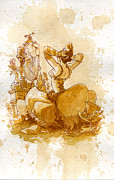 Women Painting Prints - Reflection Print by Brian Kesinger