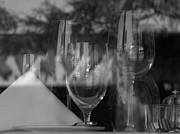 Wine Cellar Photo Originals - Reflection in Black and White.. by John Marois