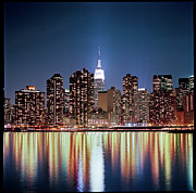 New York City Skyline Photos - Reflection Of Skyline by Shi Xuan Huang Photography