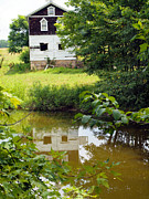 Old Country Roads Photos - Reflection Of The Barn by Robert Margetts